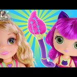 Little Charmers Magical Wand Hazel's Broomstick and Disney Princess Rapunzel Playdoh Makeover