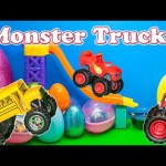 MONSTER TRUCKS Surprise Eggs Blaze and the Monster Machines Monster Truck Surprise Eggs Video