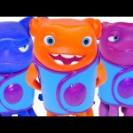 HOME Color Changers DreamWorks Oh Figurines & HUGE Play Doh Cat Pig Surprise Egg Toys by DCTC