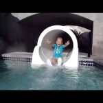 Sliding at the Waterpark