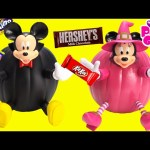 Mickey Mouse and Minnie Mouse Halloween Pumpkin Surprises and Candy