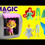 Paw Patrol Skye Magical Pup House with Disney Princess Shopkins Surprises