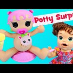 NEW Lalaloopsy Potty Surprise with Baby Alive Doll Eating Surprise Poop & Diapers