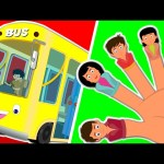 Wheels On The Bus | Finger family | Kids Rhymes
