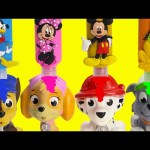 Paw Patrol Bath Time Surprises and Goes to Sleep LEARN Colors