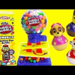 Gumball Machine with Paw Patrol Weeble Wobbles LEARN Colors
