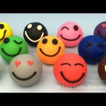 Learning Colours with Play Doh Smiley Face Fun for Kids