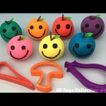 Glitter Playdough Apples Smiley Face with Vegetables Molds Fun for Kids