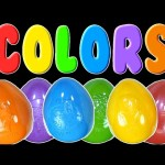Learn Complementary Colours using Surprise Eggs! Opening 6 Giant Colorful Kinder Toy Egg Surprises