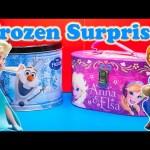 FROZEN Disney Frozen Giant Surprise Bucket & Trunk Surprise Toys Eggs Video