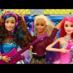 BARBIE MUSIC VIDEO + Disney Princess Rapunzel Love Story & Barbie Rock 'N Royals Dance DisneyCarToys