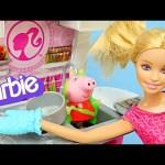 BARBIE Deluxe Kitchen Cooking with Peppa Pig Ooze – Play Doh Cookies & Pie Cocina Muñeca