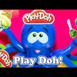 PLAY DOH the Play-Doh Octopus with Disney Frozen Elsa and TMNT Keo a Play Doh Frozen Video
