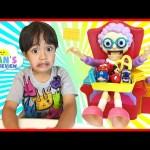 GREEDY GRANNY GAME Family Fun Game For Kids Disney Toys Chocolate Egg Surprise Ryan ToysReview