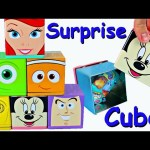 DISNEY SURPRISE TOYS! Cubeez Surprise Cubes filled with Surprise Eggs, Blind Bags Toys DisneyCarToys