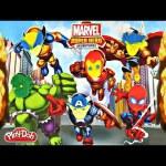 SUPER HERO ADVENTURE Play Doh Iron Man Captain America Spider-Man Thor How To Create Super Heroes