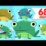 Five Little Speckled Frogs | + More Nursery Rhymes and Kids Songs | Super Simple Songs