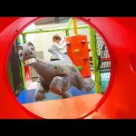 Indoor playground fun for kids. Sliders, trampoline, dino and more toys