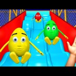 Indoor Playground Finger Family 3D for Kids, Learn Colors Surprise Eggs Nursery Rhymes Children Song