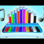Learn Colors with Music Instrument 3D Cartoon, Teach Colours, Baby Children Kids Learning Videos