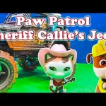 PAW PATROL Nickelodeon Paw Patrol And Disney Sheriff Callie Driving Contest a Paw Patrol Video