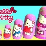 Hello Kitty Nesting Toys Surprise Matryoshka Dolls Stacking Cups by Funtoyscollector