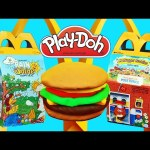 McDonalds Happy Meal Surprise Toys and Play Doh Cheese Burger Tutorial DIY Playdough