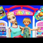 Barbie Toy Store Surprise Toys Shopping + Frozen Elsa, Paw Patrol, Jurassic World Dinosaurs & Peppa