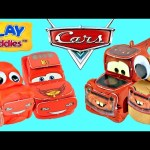 CLAY BUDDIES New Disney Pixar Cars 2 Play Doh How To Make Lightning McQueen and Mater