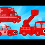 Morphle Ambulance, Police Car and Fire Truck Kids Vehicle Compilation!