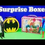 SPIDERMAN vs BATMAN Surprise Lunch Boxes Candy Toys Video