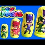 PJ Masks Stacking Cups Nesting Toys Surprise Owlette Gekko Catboy Romeo Paw Patrol Weebles