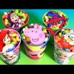 Disney Jelly Beans Surprise Frozen Elsa Mermaid Ariel Peppa Pig Spiderman Kinder Eggs Маша и Медведь