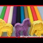 Learn Colors with Play Doh Lion Zebra Elephant Giraffe Fun & Creative for Kids Video