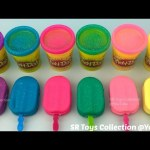 Do It Yourself Glitter Play Dough Popsicles Ice Cream with Mold Fun for Kids