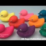 Glitter Play Doh Ducks with Anpanman Stampers Fun Learning Colours for Kids