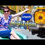 VTech Kidizoom Action Cam Kids Go Pro Sports Camera on a Razor Scooter & Park Swings + Slide