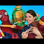 SURPRISE TOYS TMNT Pinata Surprise Eggs, Shopkins, Blind Bags, Ninja Turtles Mashems, Spiderman