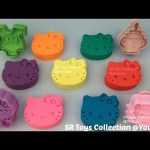 Play and Learn Colours with Glitter Play Doh Hello Kitty with Baby Theme Molds