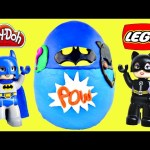 HUGE LEGO Play Doh Surprise Egg Batman Superhero Duplo Batcave Adventure Kinder Huevos Sorpresa