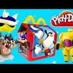 McDonalds Surprise HAPPY MEAL Play Doh Egg Barbie Big Hero 6 Disney Princess Hello Kitty Toys