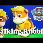 PAW PATROL Nickelodeon Paw Patrol Talking Rubble a Paw Patrol Video Toy Review