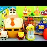 GIANT Play Doh Patrick Spongebob Squarepants Surprise Eggs Toys Unboxing DCTC Playdough Videos