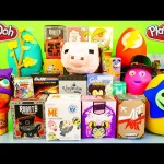 Play Doh Surprise EGGS Toys Vinylmation Sleeping Beauty Simpsons Miss Cupcakes DCTC Playdough Videos