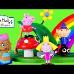 Play Doh Ben and Holly's Little Kingdom Magical Slide with Peppa Pig and Bubble Guppies Toy Episode