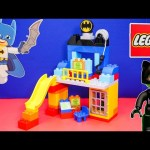 BATMAN Lego Duplo Batman Batcave with Cat Woman a DC Heroes Lego Batman Video Toy Review