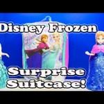 FROZEN Disney Elsa & Anna Surprise Suitcase and Candy Surprise Toys Video