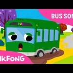 The Wheels on the Green Town Bus | Bus Songs | Car Songs | Pinkfong Songs for Children