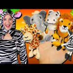 Safari Animals Finger Family Song | Elephant, Lion, Giraffe, Zebra & Hippo! Wild Animals for kids