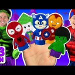 Superheroes Finger Family and more Finger Family Songs! Superhero Finger Family Collection
